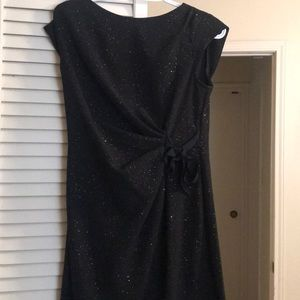 Black dress with gold sparkles